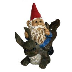Michael Carr Garrold Gnome On Rabbit
