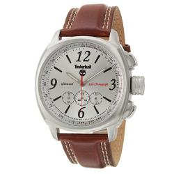 Timberland Men's 'Glenwood' Stainless Steel and Leather Quartz Chronograph Watch