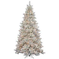 Slim Silver Tinsel 7.5-foot Tree