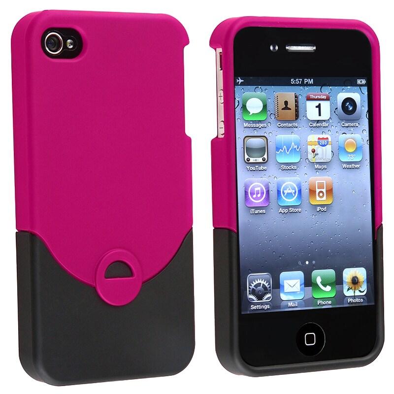 AccStation Hot Pink/ Black Case for Apple iPhone 4