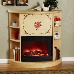 The Rosette Real Flame Electric Fireplace