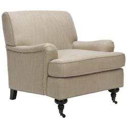 Nottingham Taupe Nailhead Club Chair