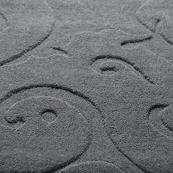 Candace Olsen Loomed Holt Damask Pattern Wool Rug (8' x 11')
