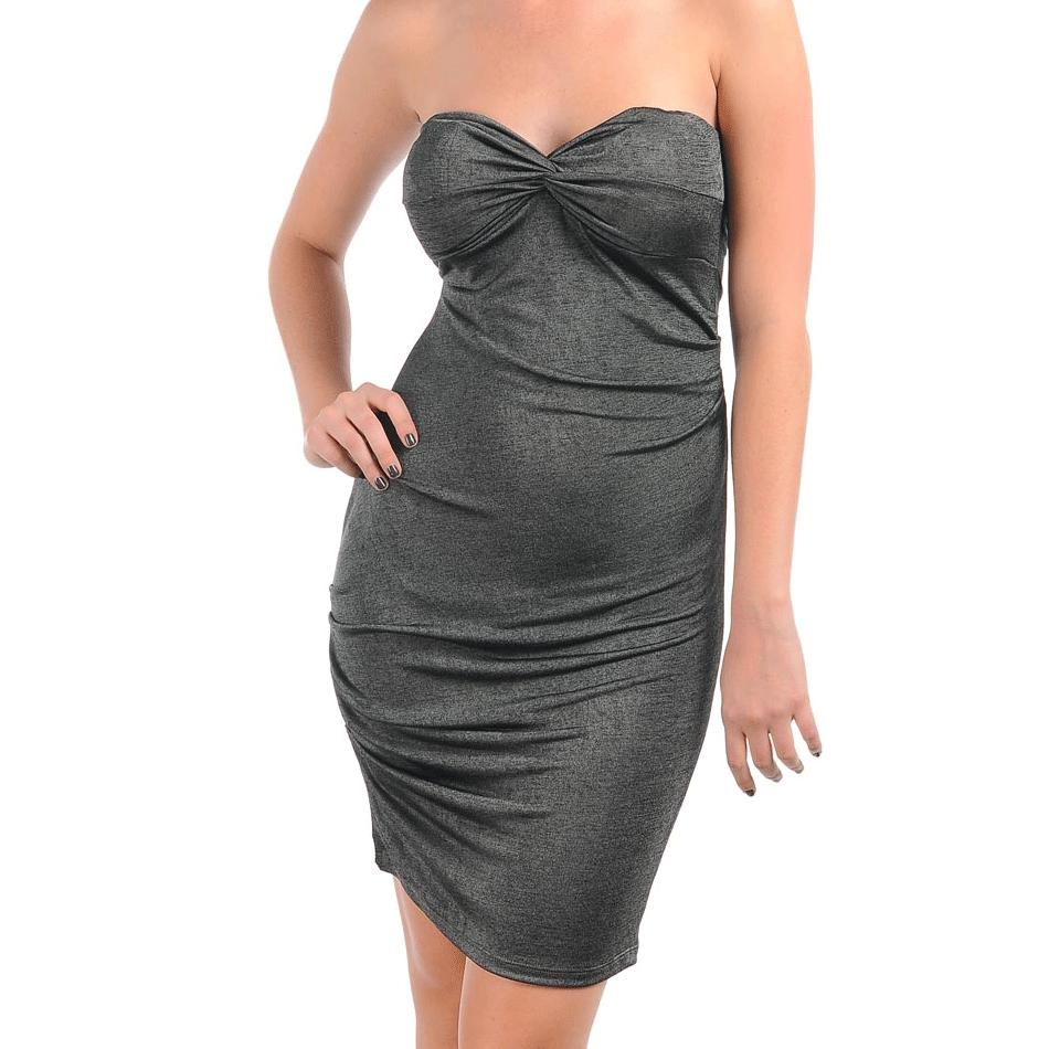 Stanzino Women's Grey Formal Tube Dress