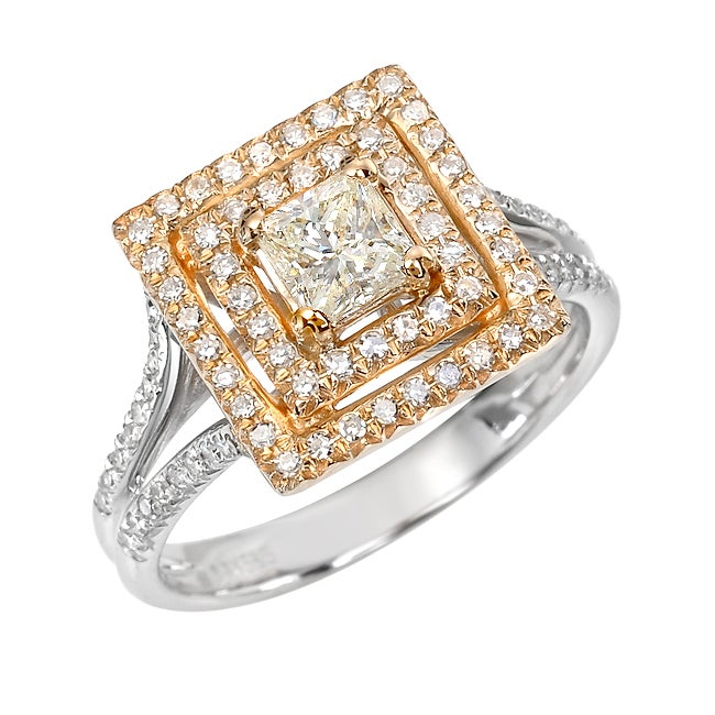 14k Two-tone Gold 7/8ct TDW White Diamond Ring