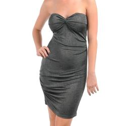 Stanzino Women's Grey Formal Tube Dress