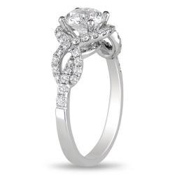 Miadora 18k White Gold 1 1/2ct TDW Diamond Engagement Ring (H-I, I1-I2)