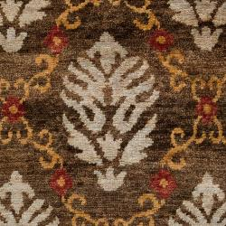 Hand-knotted Hingham Classic Floral Hemp Rug (8' x 11')