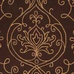 Hand-hooked Haxby Indoor/Outdoor Damask Print Rug (9' x 12')