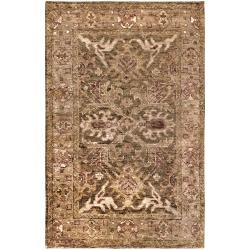 Hand-woven Hetton Traditional Border Hemp Rug (8' x 11')