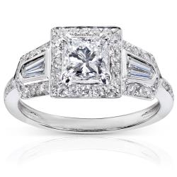 14k White Gold 1 3/5ct TDW Diamond Engagement Ring (E-F, I1-I2)