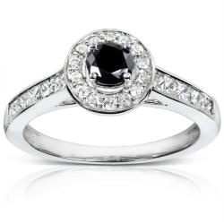 14k Gold 3/4ct TDW Black and White Diamond Ring (H-I, I1-I2)