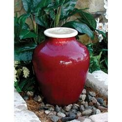 Beckett Fountain Red Ceramic Vase