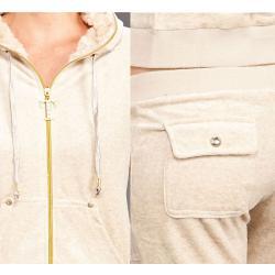 Tabeez Women's Diamond Velour Hoodie and Pants Set