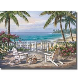 Sung Kim 'Coastal View' Canvas Art