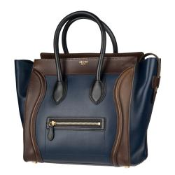 Celine Mini Leather Luggage Tote Bag