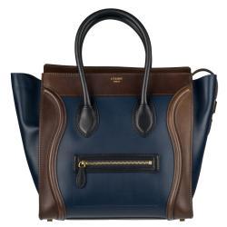 Celine Mini Leather Luggage Tote Bag