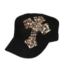 Women's Animal Rhinestone Cross Hat