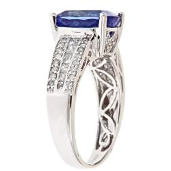 D'Yach 14k White Gold Tanzanite and 3/4ct TDW Diamond Ring (G-H, I1-I2)
