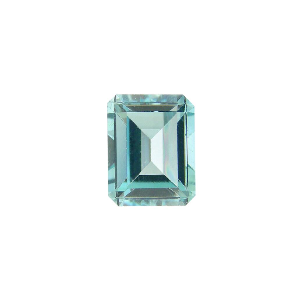 Glitzy Rocks Rectangle 12x10mm 7.5ct TGW Blue Topaz Stone