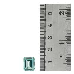 Glitzy Rocks Rectangle 12x10mm 7.5ct TGW Blue Topaz Stone