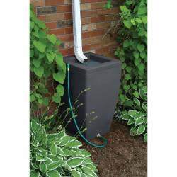 Algreen Madison Rain Barrel Dark Granite, 49 Gallon