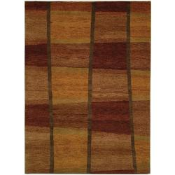 Hand-knotted Selaro Fields Wool Rug (6' x 9')
