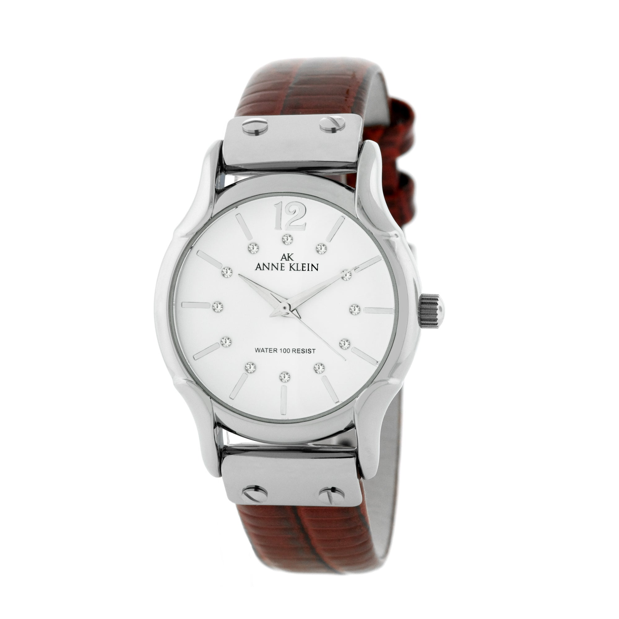 Anne klein red leather strap watch 13993510 shopping big discounts on anne for Anne klein leather strap