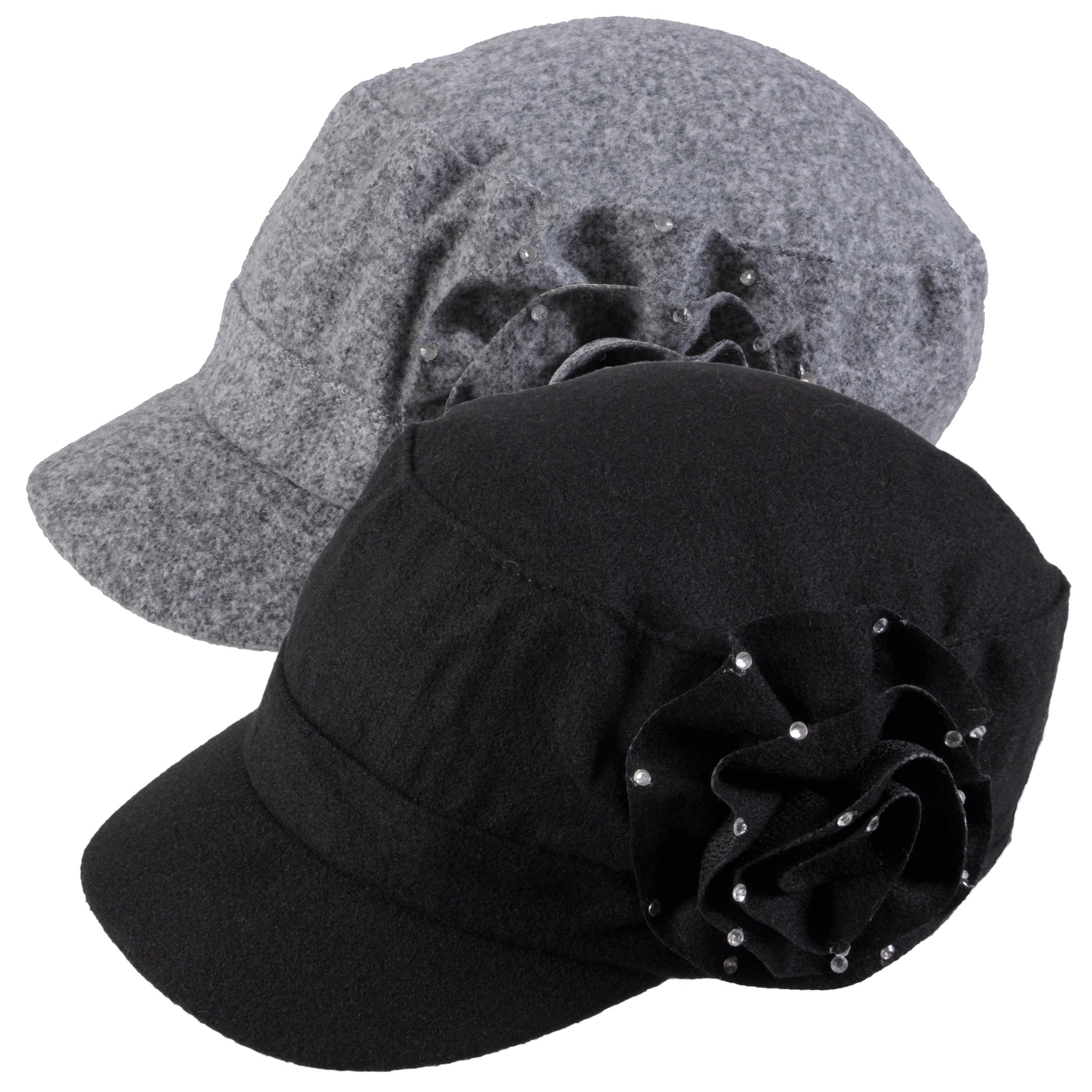 Adi Designs Women's Rosette Detail Woven Military Cap