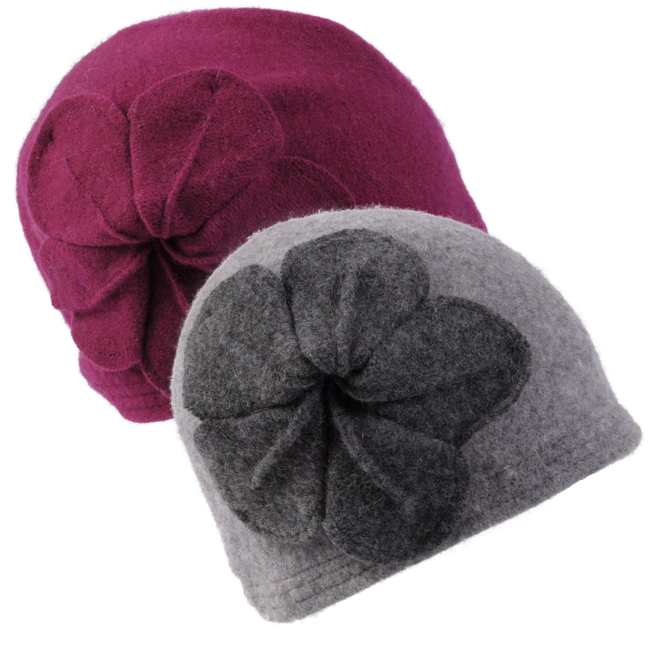 Journee Collection Women's Wool Flower Accent Bucket Hat