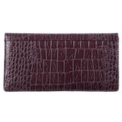Kenneth Cole Reaction Women's Slim Croc Print Clutch Wallet