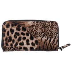Kenneth Cole Reaction Womens Animal Print Zipper Clutch Wallet