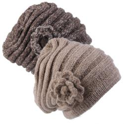 Journee Collection Women's Flower Detail Knit Beanie