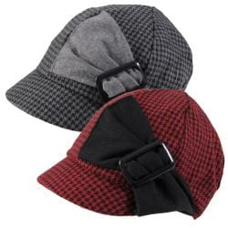 Journee Collection Women's Side Buckle Accent Newsboy Cap