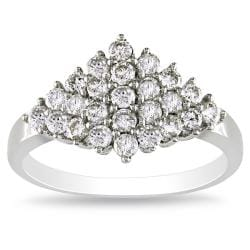 Miadora 14k White Gold 3/4ct TDW Diamond Ring (I-J, I2-I3)