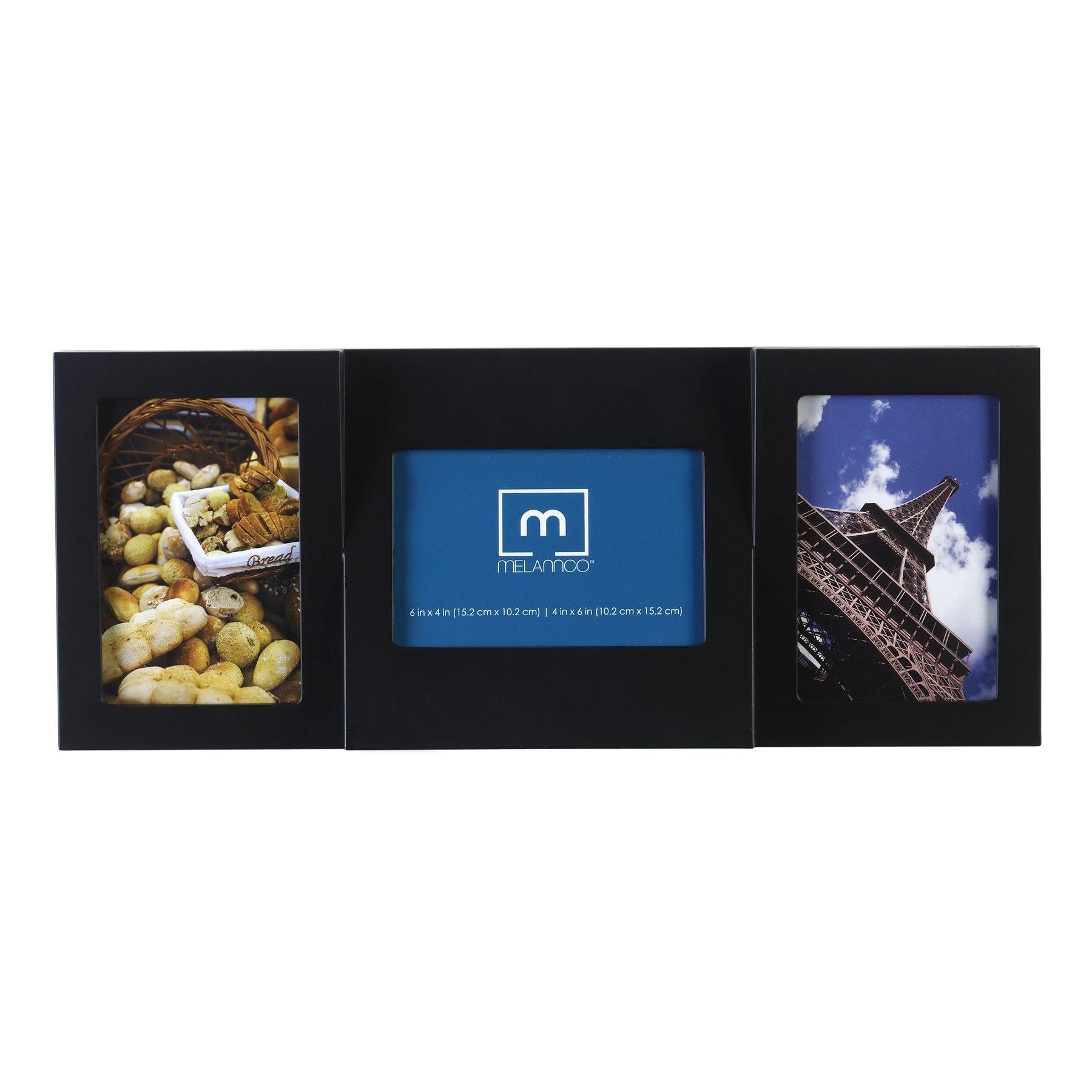 Mellanco 3-Photo Black Wedge Frame