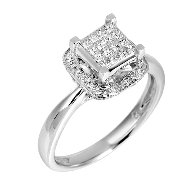 14k White Gold 3/4ct TDW White Diamond Ring (G, SI1-SI2)