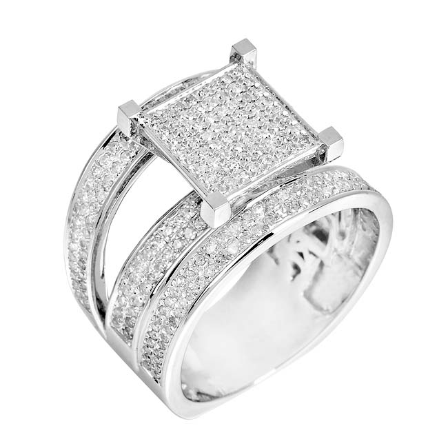 10k White Gold 1 1/4ct TDW White Diamond Ring (H, I1-I2)