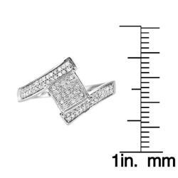 14k White Gold 1/3ct TDW White Diamond Ring (H, I1-I2)