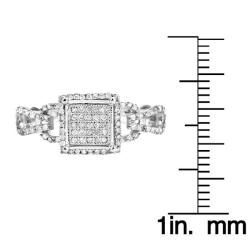 10k White Gold 2/5ct TDW White Diamond Ring (H, I1-I2)