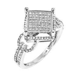 10k White Gold 1/2ct TDW White Diamond Ring (H, I1-I2)