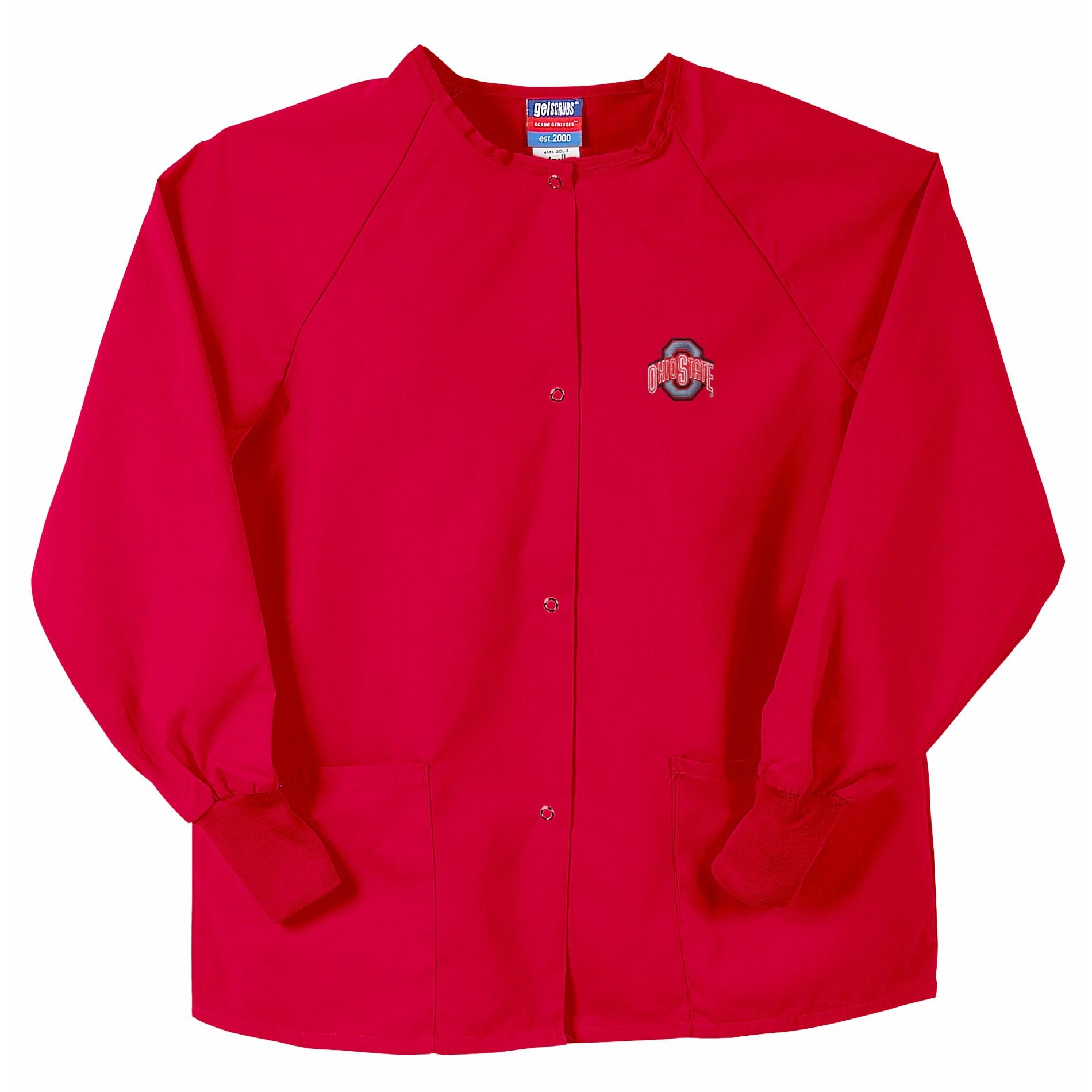 Gelscrubs Unisex Red Ohio State Buckeyes Nurse Jacket