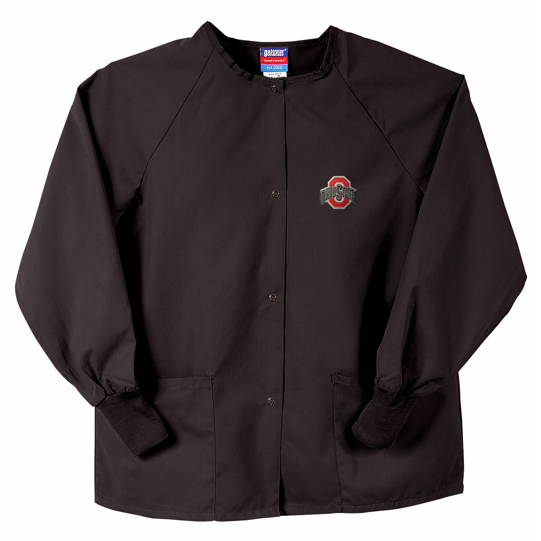 Gelscrubs Unisex Black Ohio State Buckeyes Nurse Jacket