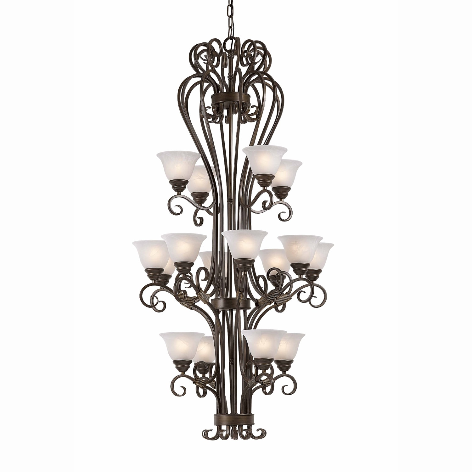 Monte Carlo 16-light Harvest Bronze Chandelier