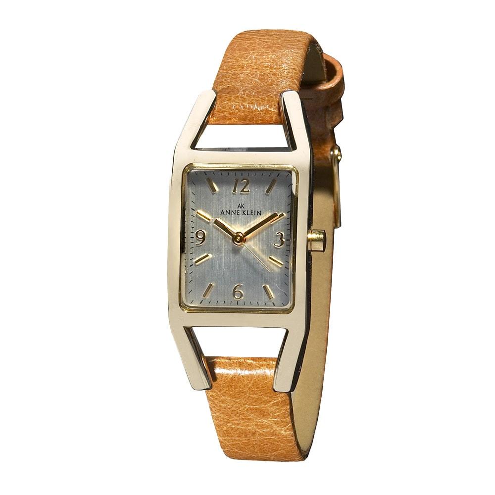 Anne klein honey brown leather strap watch 13996848 shopping big discounts for Anne klein leather strap