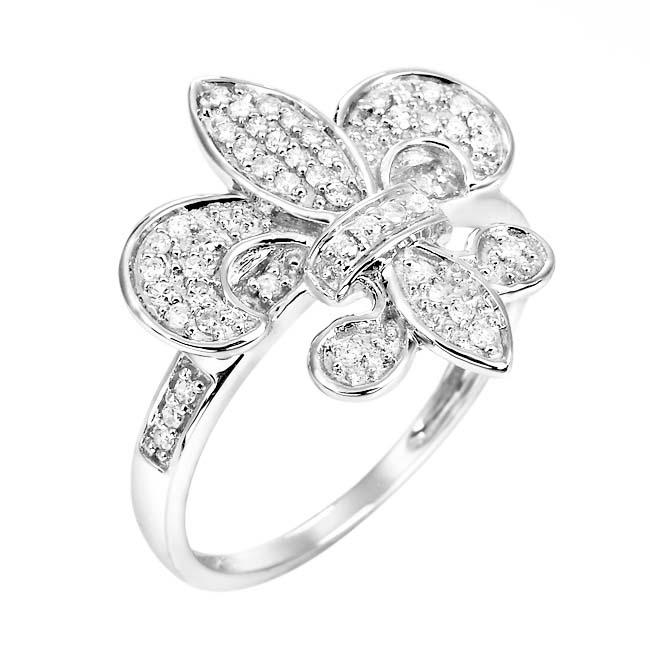 10k White Gold 1/3ct TDW White Diamond Ring (H, I1-I2)