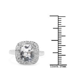 Malaika Sterling Silver Clear Quartz Ring (2ct TGW)