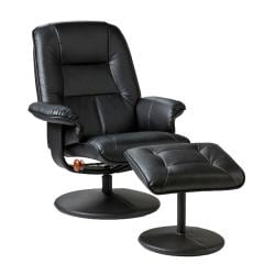 Keystone 360-degree Black Recliner and Ottoman