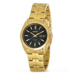 Seiko Men's Stainless Steel Goldtone Kinetic Watch