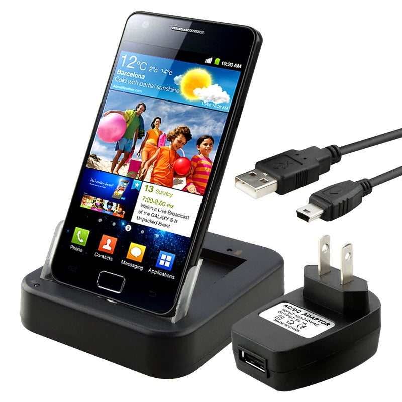 2-in-1 Cradle with Battery Charger for Samsung Galaxy S II i9100